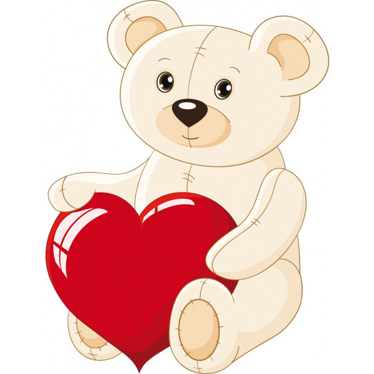Stickers ourson gros coeur