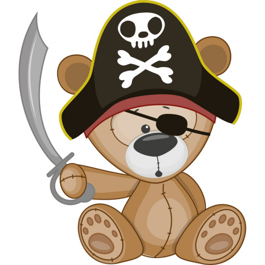 Stickers ourson pirate