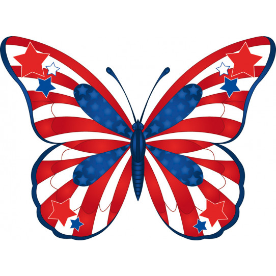 Stickers papillon usa
