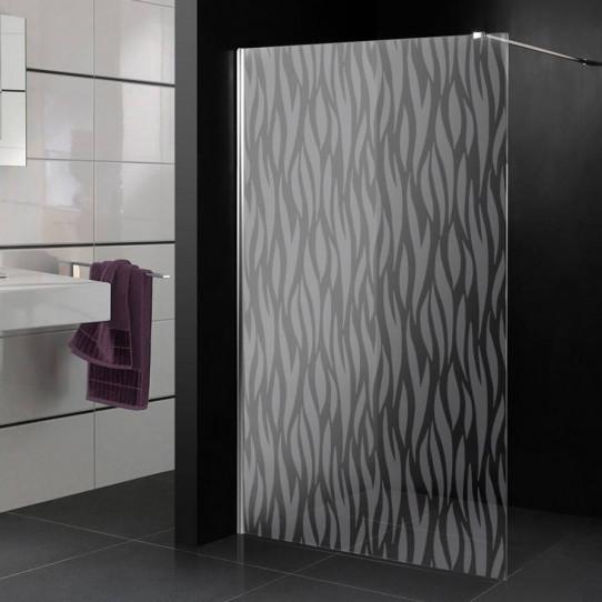 Stickers paroi de douche dépoli design 10