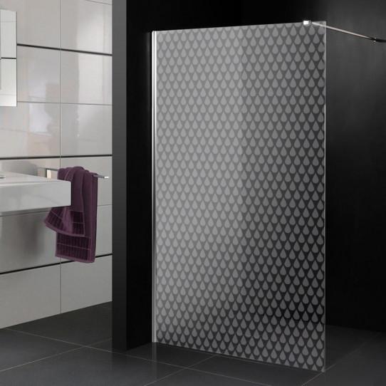 Stickers paroi de douche dépoli gouttes d'eau