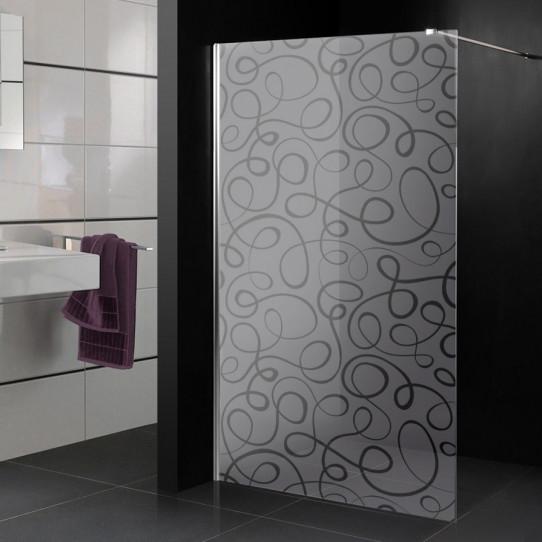 Stickers paroi de douche dépoli neptune