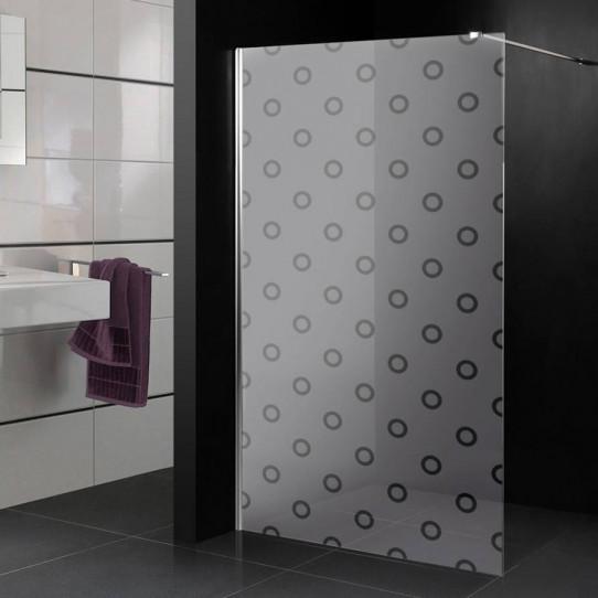 Stickers paroi de douche dépoli ronds 5