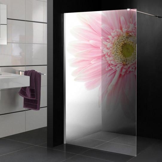 Stickers Paroi de douche semi translucide fleur