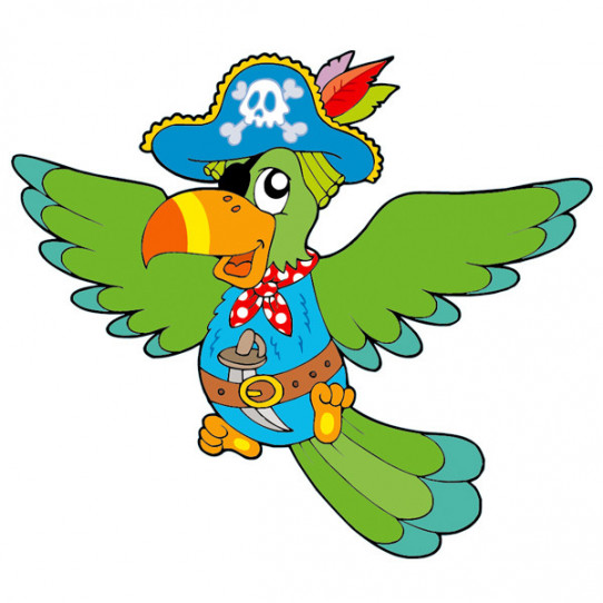 Stickers Perroquet Pirate