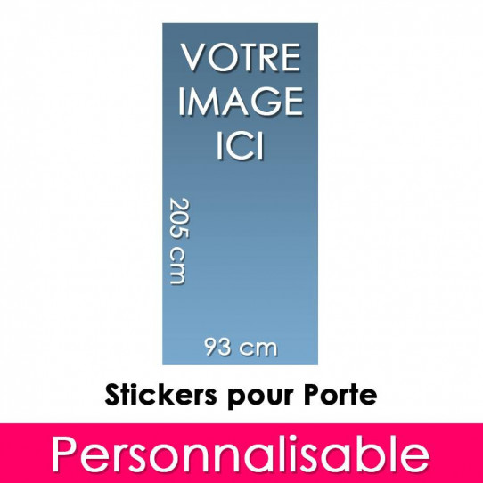 Stickers Personnalisable Pour Porte 93x205 cm