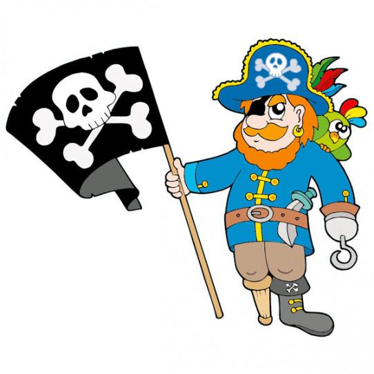 Stickers Pirate Drapeau
