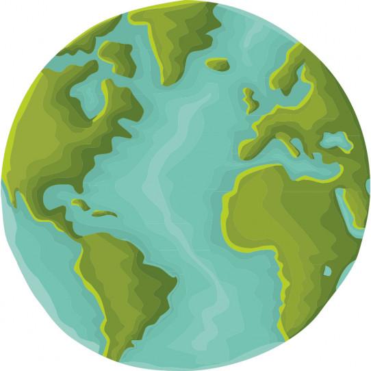Stickers planète terre