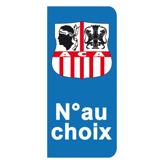 Stickers Plaque ACA - Ajaccio