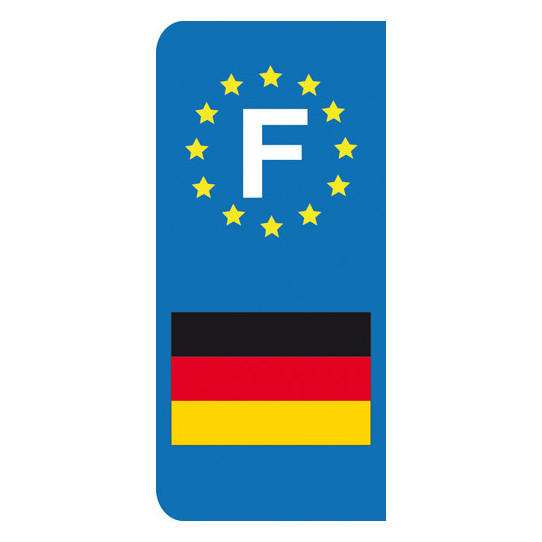 Stickers Plaque Allemagne