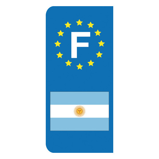 Stickers Plaque Argentine