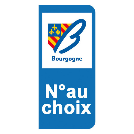 Stickers Plaque Bourgogne