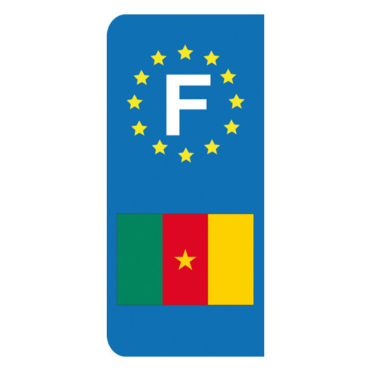 Stickers Plaque Cameroun
