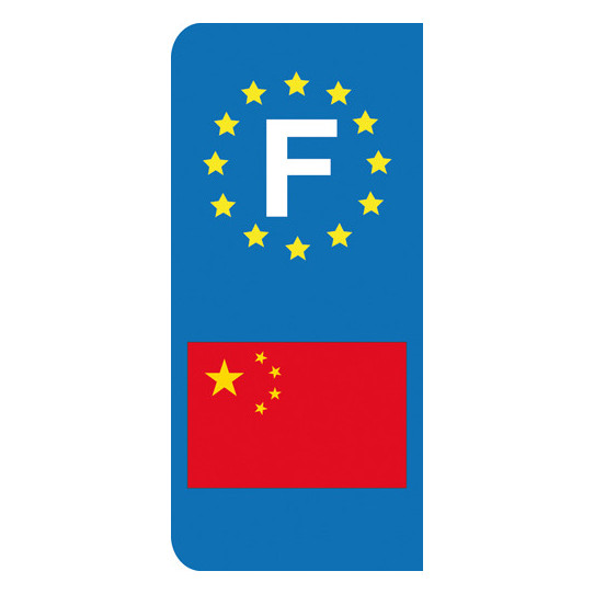 Stickers Plaque Chine