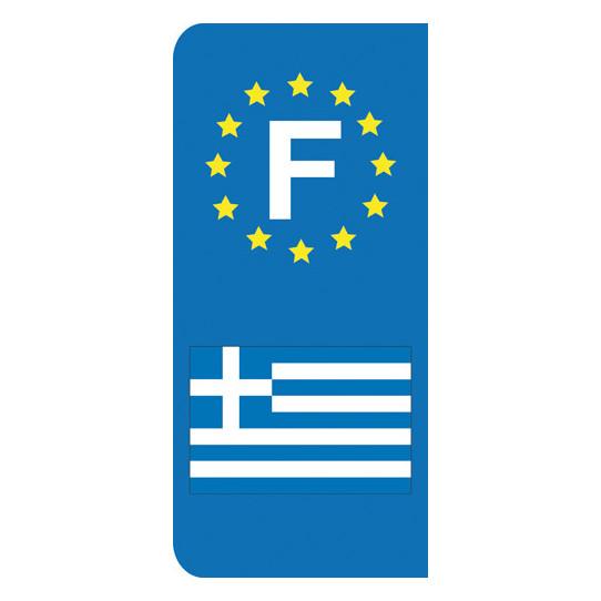 Stickers Plaque Grèce