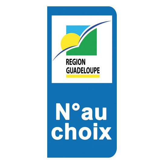 Stickers Plaque Guadeloupe