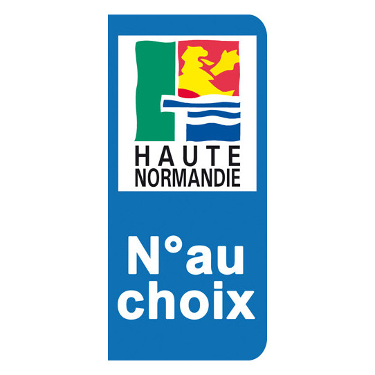 Stickers Plaque Haute Normandie