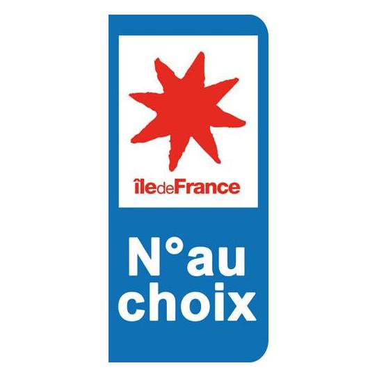 Stickers Plaque Île de France