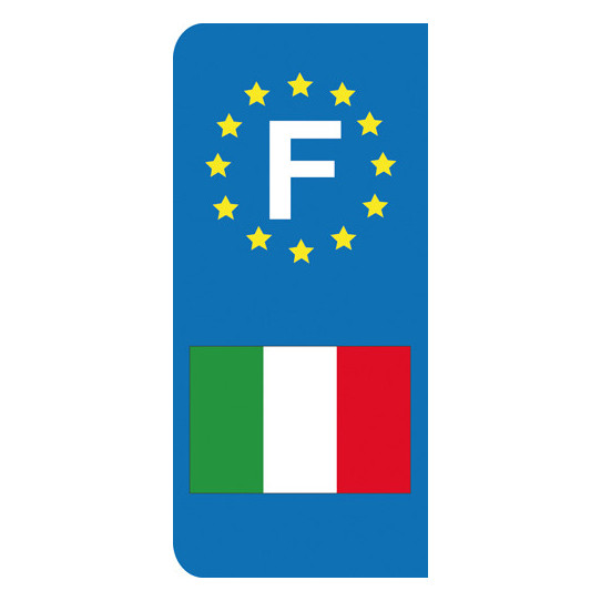 Stickers Plaque Italie