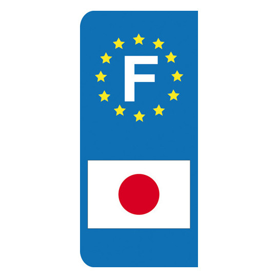Stickers Plaque Japon