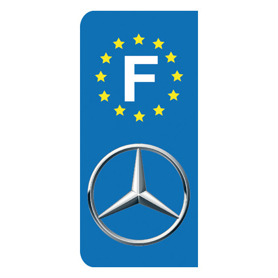 Stickers Plaque Mercedes