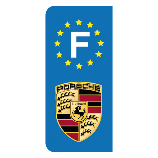 Stickers Plaque Porsche