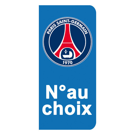 Stickers Plaque PSG Paris
