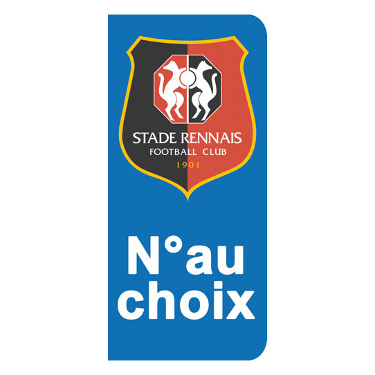 Stickers Plaque Rennes