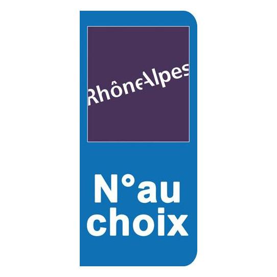 Stickers Plaque Rhône Alpes