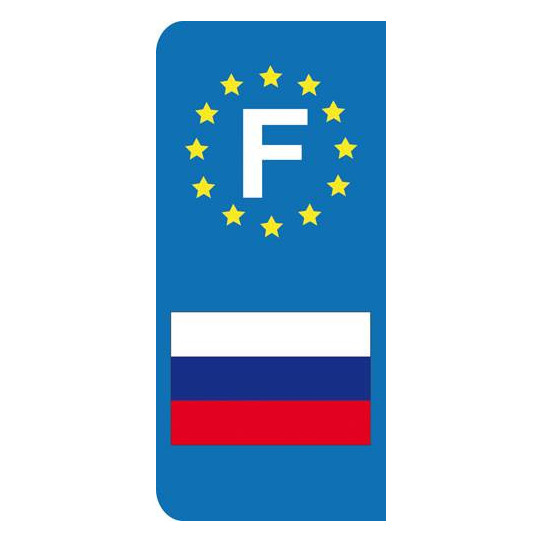 Stickers Plaque Russie
