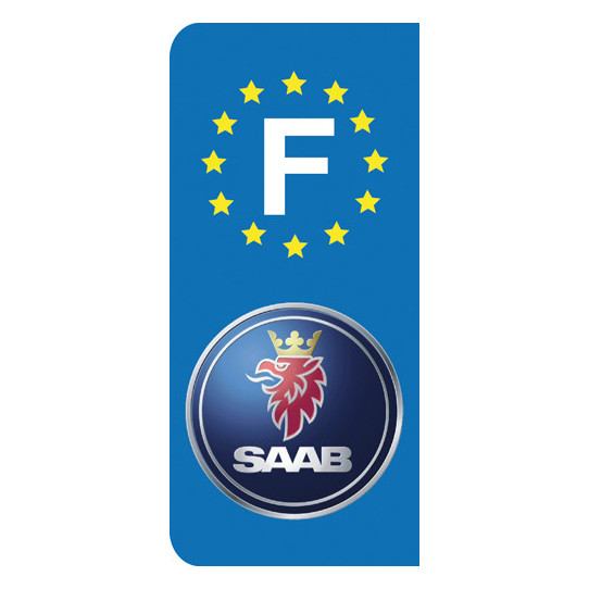 Stickers Plaque Saab