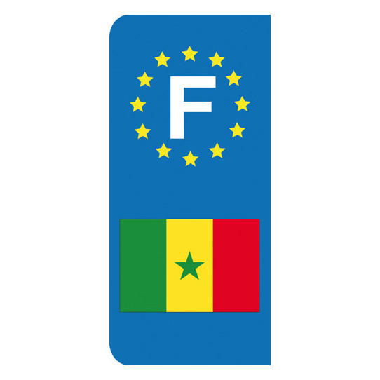 Stickers Plaque Sénégal