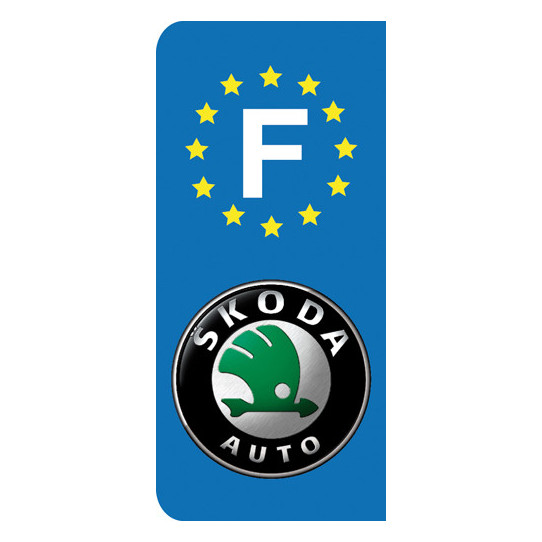 Stickers Plaque Skoda