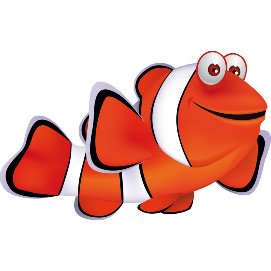 Stickers poisson clown