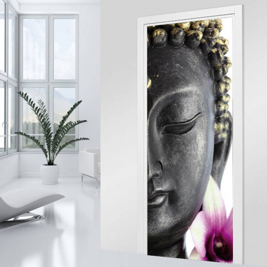Stickers Porte - Bouddha Zoom