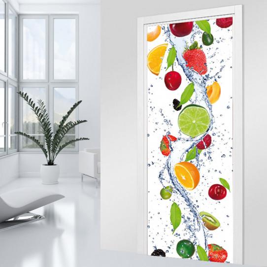 Stickers Porte - Cascade de fruit