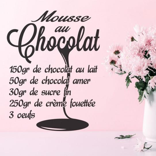 Stickers Recette Mousse au Chocolat 2