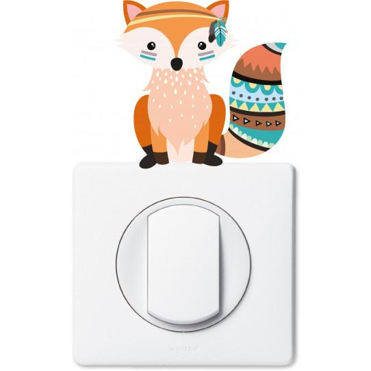 Stickers renard pour prise et interrupteur