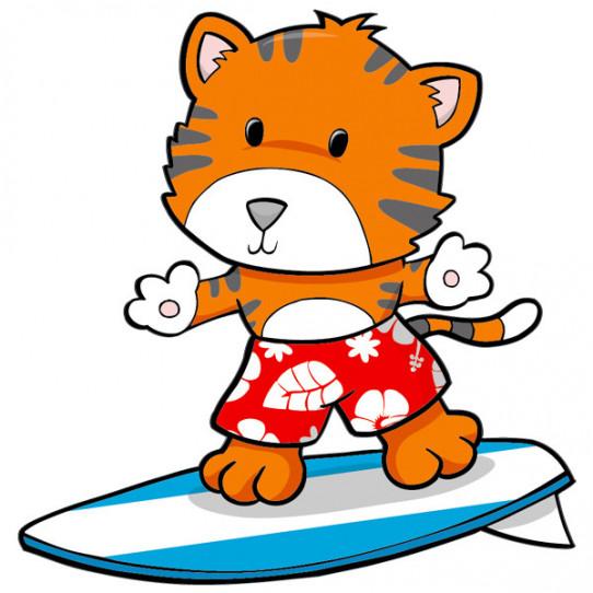 Stickers Renard Surf