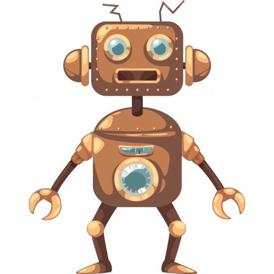 Stickers robot cuivre