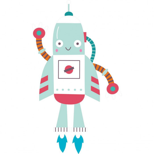 Stickers robot fusée