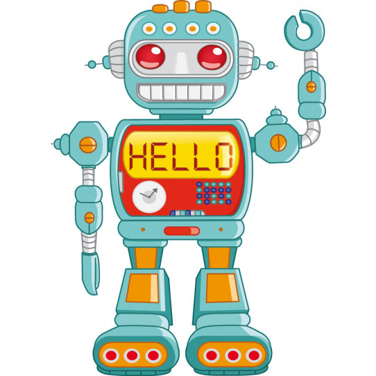 Stickers robot hello