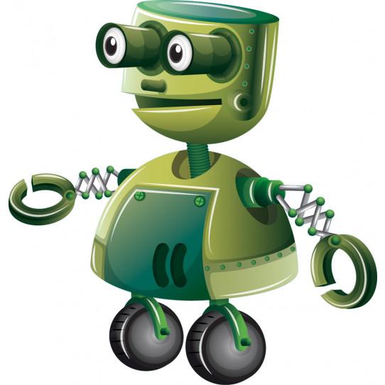 Stickers robot vert