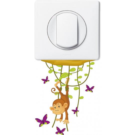 Stickers singe papillons pour prise et interrupteur