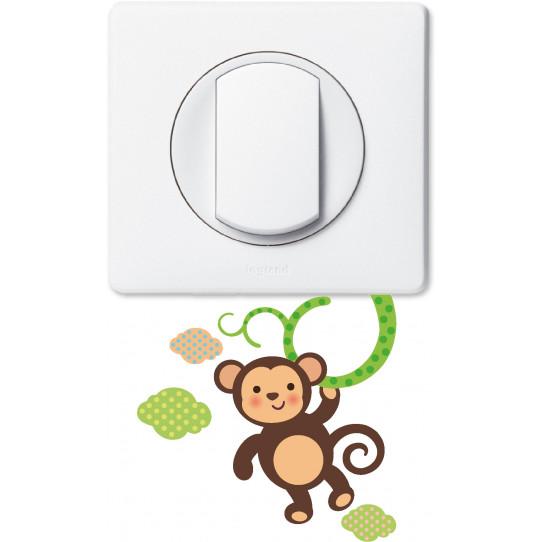 Stickers singe pour prise et interrupteur