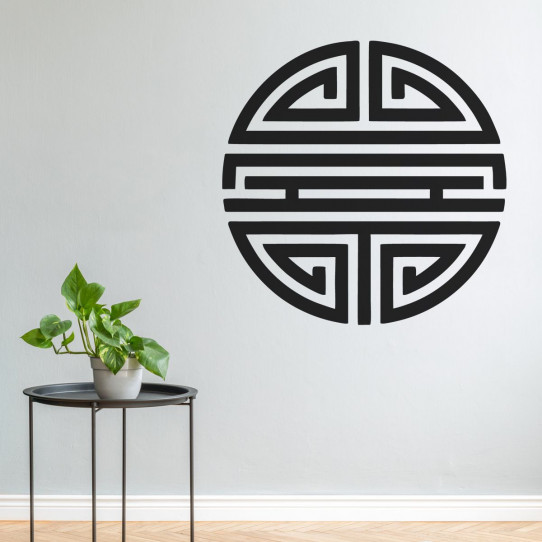 Stickers symbole rond asiatique