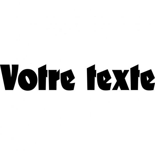 Stickers texte personnalisé