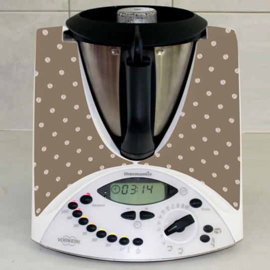 Stickers Thermomix TM 31 Chocolat à pois