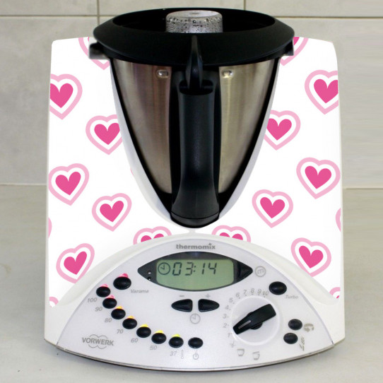 Stickers Thermomix TM 31 Coeur en folie 4