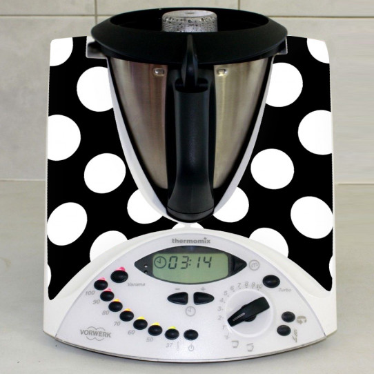 Stickers Thermomix TM 31 Noir à pois